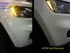 before and after scuff removal