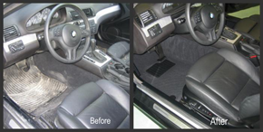 Before and After interior